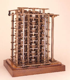 A fragment of the Difference Engine No. 1 (1832) © Science Museum, London. Science & Society Picture Library